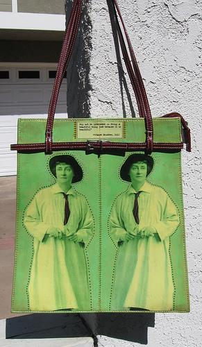 "Upcycled Purse, Green, ""Janet Scudder"""