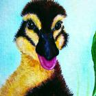 &quot;Everything is Just Ducky!&quot; Painting of a duckling