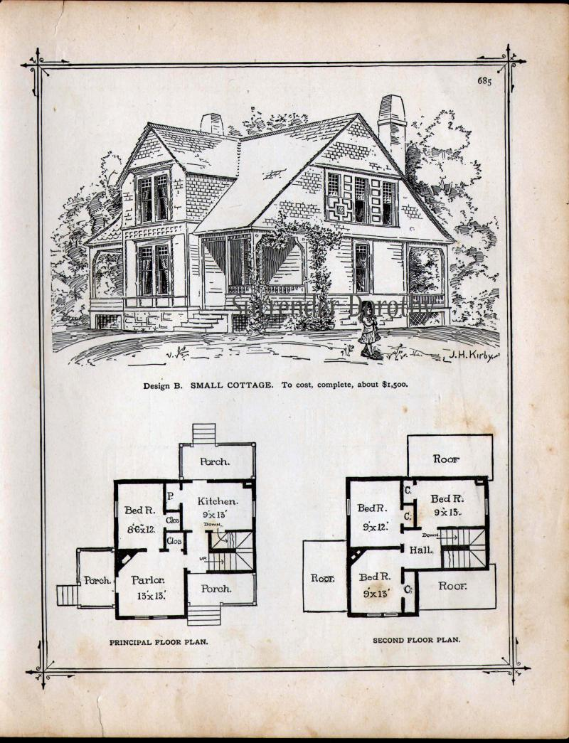 Tiny victorian house plans joy studio design gallery for Vintage victorian house plans