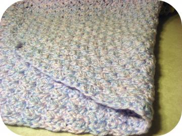 Pink and  Blue Crochet Baby Blanket
