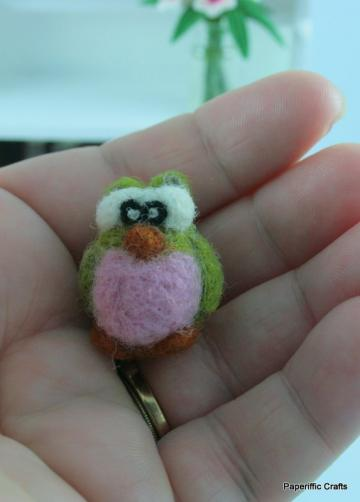 Wool Needle Felted Miniature Owl