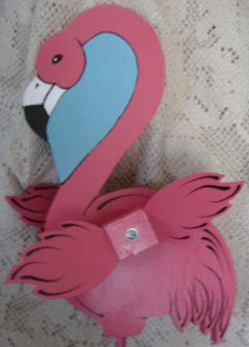 Whirligig, Wind Spinner  Handcrafted Pink Flamingo