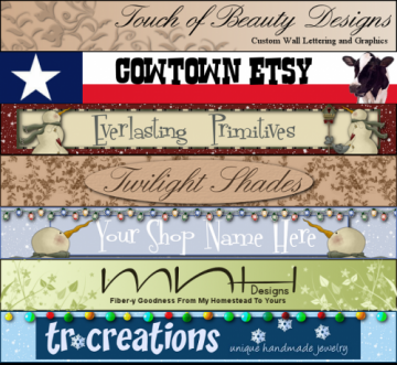 Zibbet Shop Banner and Avatar- Premium Version