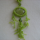 Lime Green Serpentine Necklace Set