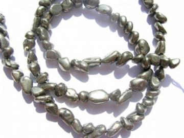 Wholesale Genuine Freeform Nugget Chips Nautral Pyrite Beads 4-6mm