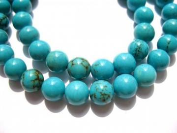 high quality round ball turquoise bead gemstone 6mm 65pcs--5strands