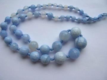 Ball Round Faceted Dragon Vein Chalcedony Blue Fire Onyx Bead 6-16mm