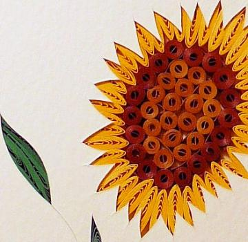 Quilled Sunflower handcrafted wall decor