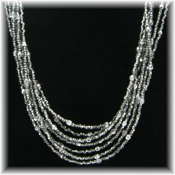 Black Diamond Glass Bead Necklace