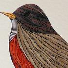 Quilled Robin custom framed original wall art