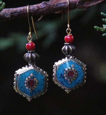 Exotic Lands - Turquoise earrings