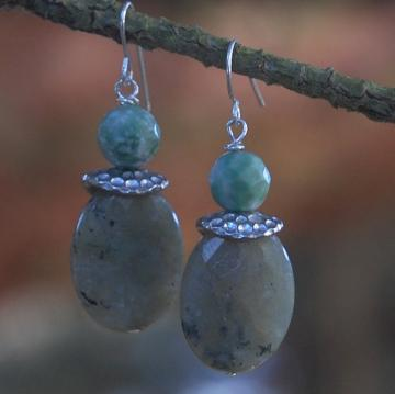 Misty Morning - labradorite earrings