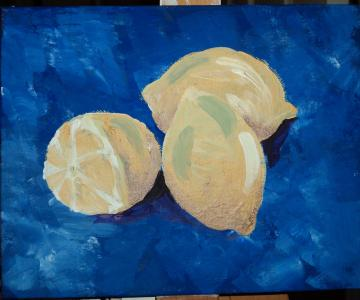 Trinity of Lemons (kitchen painting in acrylic)