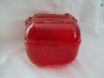 Rare Red Clear Lucite Yarn/Wool Holder