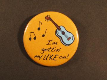 Ukulele Pinback Button Badge Pin 1.75""
