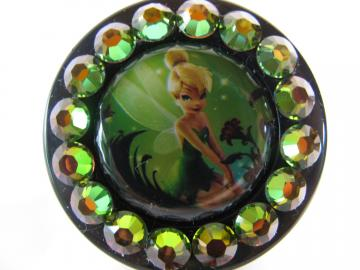 Tinkerbell Swarovski Crystal Bling ID Reel Badge Holder Reel