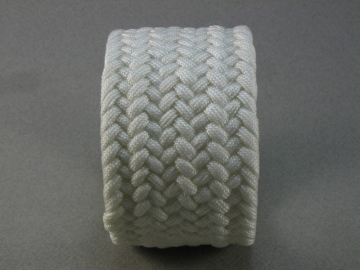 white wide paracord bracelet extra large 487