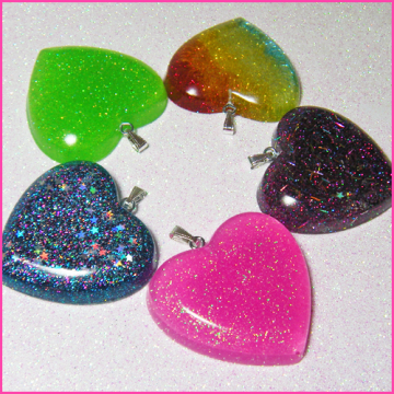 WHOLESALE Lot - 5 Resin Pendants