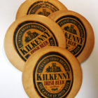 Leather Coasters with Kilkenny Irish Beer