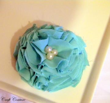 Blooming Spring Flower Clip In Aqua
