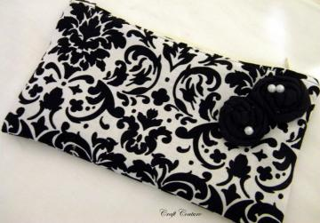Damask Clutch With Rosettes