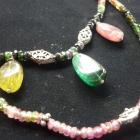 tourmaline double necklece