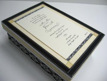 Wedding Invitation Memory Keepsake Box-Custom Made
