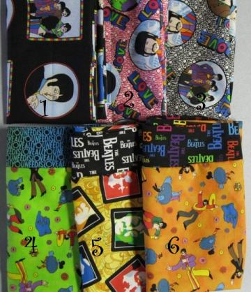 NEW Choose from 6 Different Beatles Prints MINI Pillowcase kids/travel pillowcase