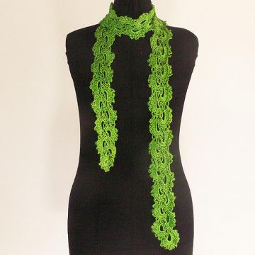 Crochet Scarf Patterns With Thin Yarn : Click to Enlarge Image
