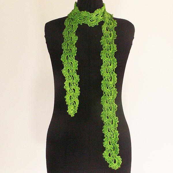 Free Crochet Patterns For Skinny Scarf : Click to Enlarge Image