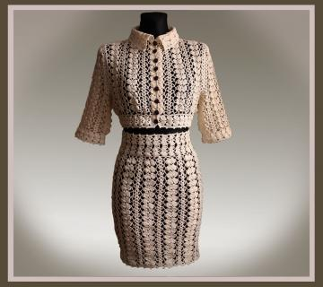 Crochet Pattern -- Knee Length Suit.