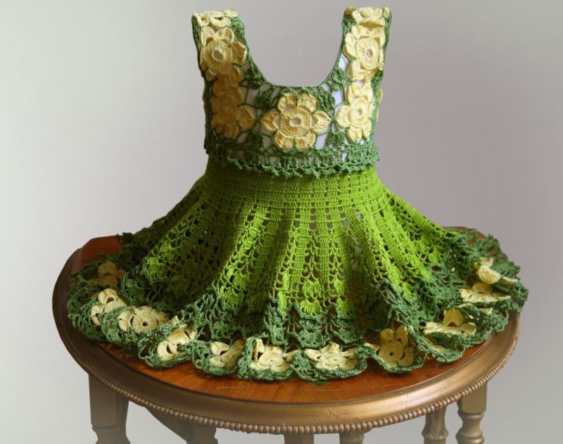 Baby dress Crochet Pattern /Unique Model