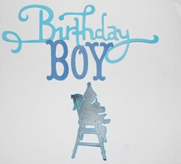 Silhouette Birthday Boy Die Cut