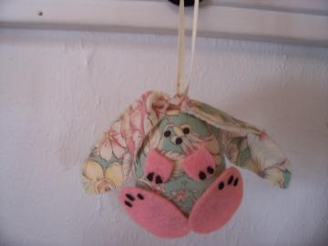 Floral Print Bunny Decoration