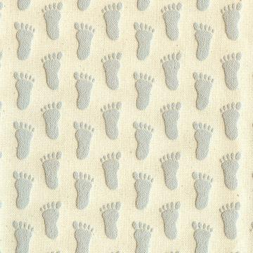 GRAY Footprint Slipper Grippers Non-Slip Anti-Skid Fabric