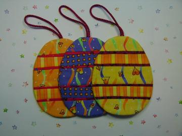 Easter Egg Ornaments - set of 3 (EEO3E)