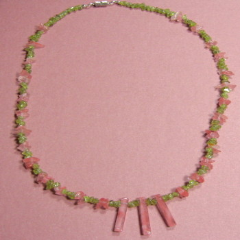 Peridot & Cherry Quartz Necklace