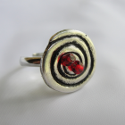 Eternity Spiral Button Ring
