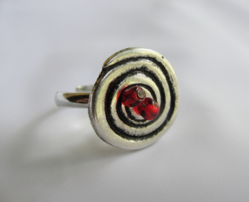 Eternity Spiral Button Ring by Texas Eagle Gallery