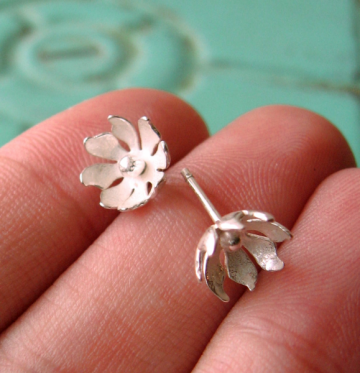 Sterling Wildflower Earrings - Ready to Ship