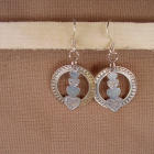 'Silver Magic' ooak drop earrings Sterling Silver $0. S&H