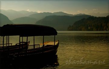 "Float into the dream -- Lake Bled, Slovenia,  5 x 7"" fine art photography print."