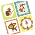 Woodland Creatures - Printable Digital Collage Sheet - Buy 2 Get 1 Free
