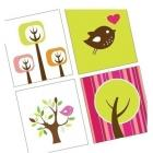 FUNKY TREES AND BIRDIES - Pendant Images - DIGITAL SHEET- PDF - BUY 2 GET ONE FREE