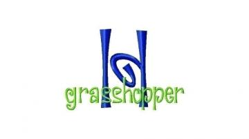 Grasshopper Font machine embroidery design