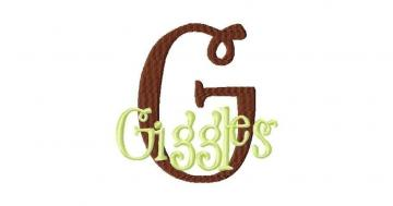 Grins and Giggles Font Machine Embroidery Design