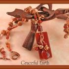 Carnelian, Red Malachite and Copper Necklace and Earring Set