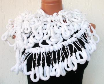 White Mulberry Scarf , Valentines Day