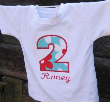 Birthday Shirt - You Choose your Fabric - Personalized for you