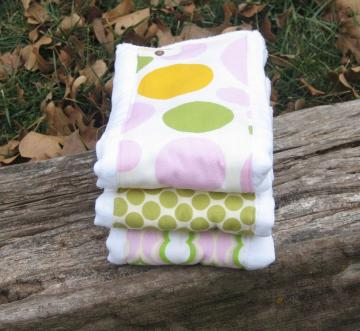 Set of 3 Burp Cloths - You Choose your Fabric - Baby Shower Gift